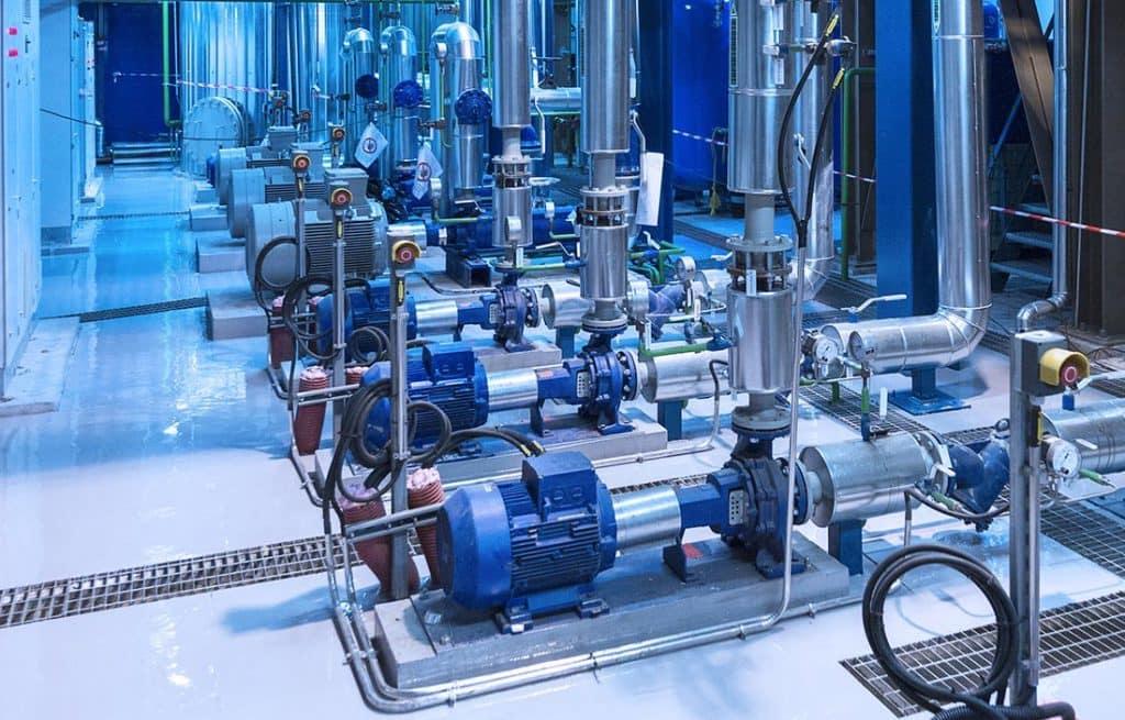 Wassernormpumpen und Pumpentechnik