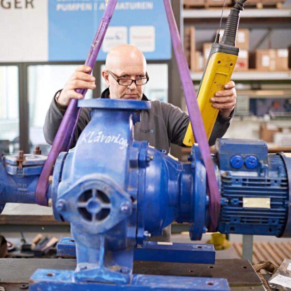 Kläranlagen Pumpe in der Service Werkstatt